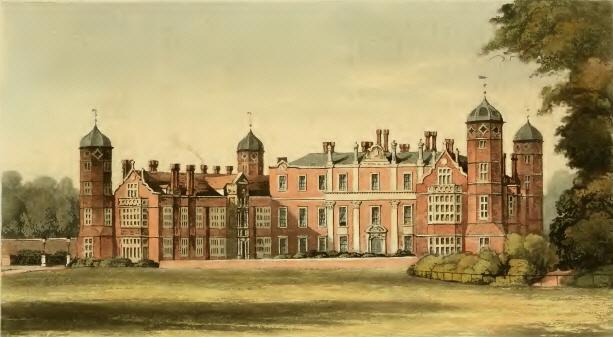 Cobham Hall, Kent - Ackermann's Repository, December 1826