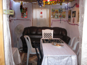 Interior of our sukkah a few years back