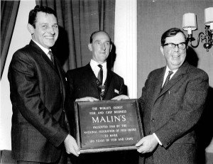 Malin's Plaque from the Archives of the National Federation of Fish Friers